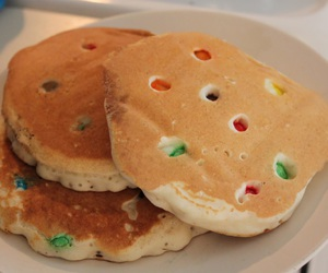 colorful, pancakes, and m&m's image