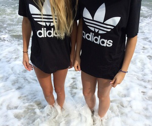 adidas, friends, and girl image