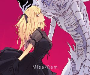 death note, rem, and anime image