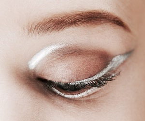 makeup, eye, and silver image