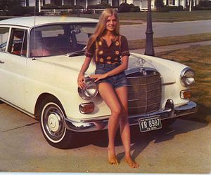 girl, 70s, and car image
