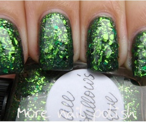 green, nails, and paddys day image