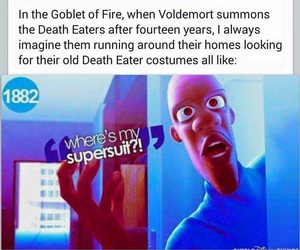 funny, goblet of fire, and voldemort image