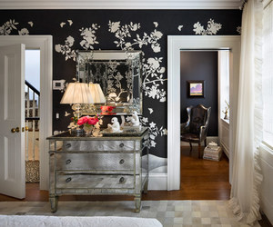 black, mirror, and girly bedroom image