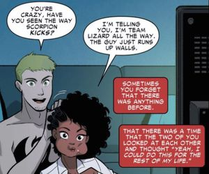 cute couple, interracial, and superheroes image