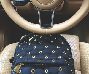 backpack, bags, and car image