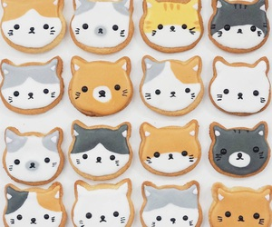 cat, cute, and cookie image
