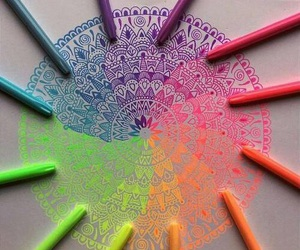 art, colours, and beautiful image