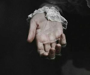 dark, hand, and vintage image