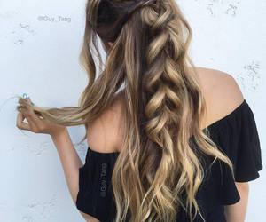 braid, hair, and braided hairstyle image