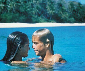 Nude, the blue lagoon, and tropic image