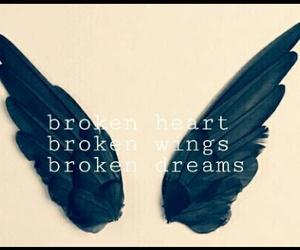 angel, black, and broken image