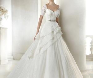wedding, wedding dress lace, and wedding gown image