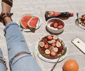 food, strawberry, and delicious image