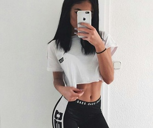 style, outfit, and fitness image