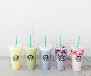 starbucks, drink, and food image