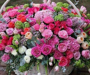 bouquet, happy, and flower image