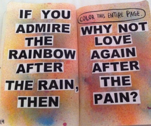 quote, rainbow, and love image