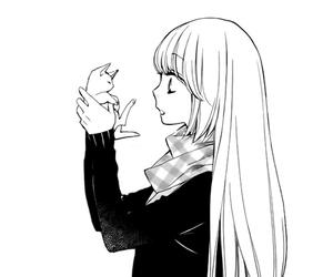 anime, manga, and cat image