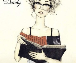 beauty, book, and girl image
