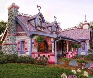 house, pink, and home image