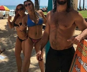 wwe, seth rollins, and becky lynch image