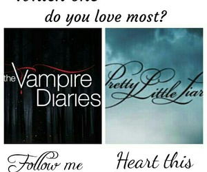 pretty little liars, pll, and the vampire diaries image