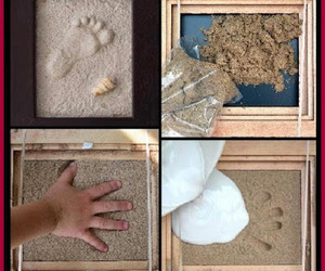 crafts, diy art, and baby foot prints image