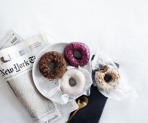 donuts, food, and white image