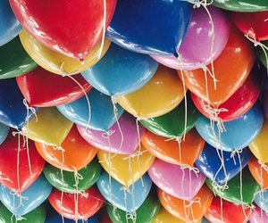 ballons, balloons, and colourful image