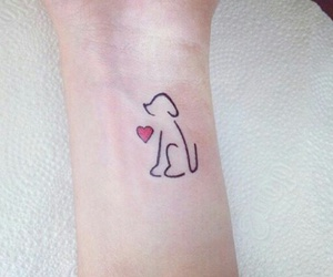 tattoo, dog, and heart image