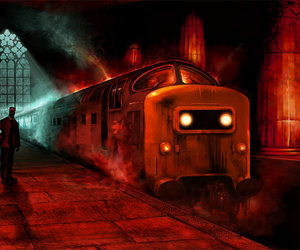 evil, mystical, and train image