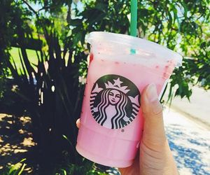 starbucks, pink, and summer image