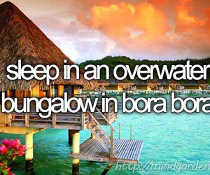 bora bora, bucket list, and bungalow image