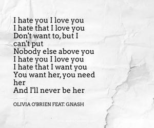 be, hate you, and Lyrics image