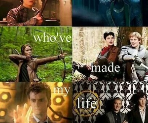 harry potter, merlin, and hunger games image