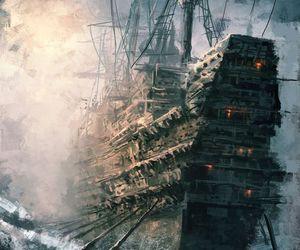 nautical, pirate, and ocean image