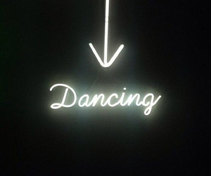 dance, light, and neon image