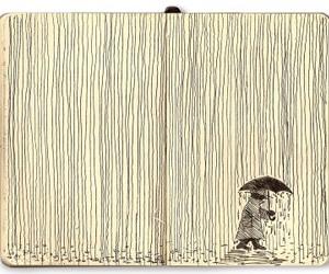 draw, drawing, and rain image