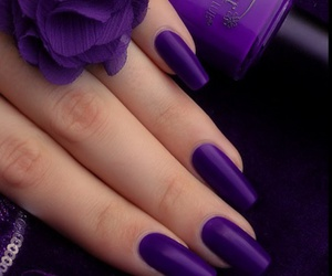 beautiful, nails, and purple image