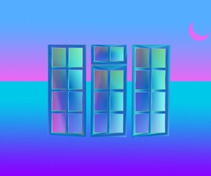 aesthetic, sticker, and vaporwave image