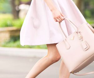 pink, bag, and classy image