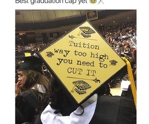 college, graduation cap, and high school image