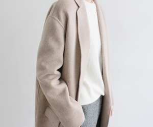 coat, colour, and shirt image