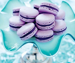 purple, food, and macarons image