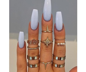 rings, blue, and nails image