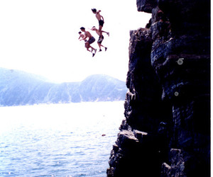 summer, jump, and water image
