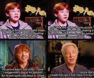 harry potter, rupert grint, and alan rickman image