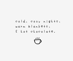 quotes and hot chocolate image