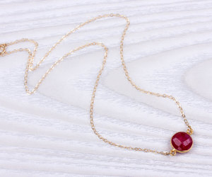 ruby necklace, ruby pendant, and bridesmaid necklace image